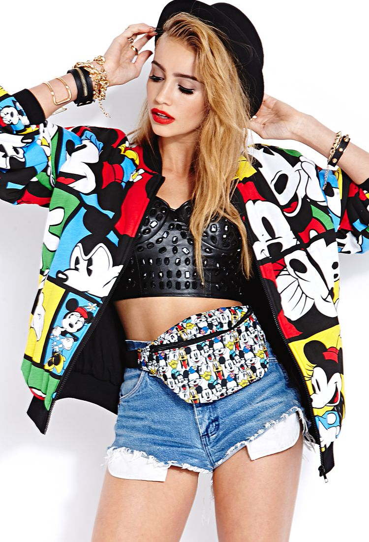 Cailin Russo models the Forever21 & Disney Collaboration Mickey&CO  Styled by Dalit Gwenna #lookbook #80s #mickey #disney #forever21 #redlips #styling #artdirection #dalitgwenna