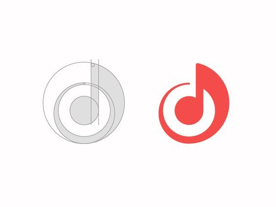 Guidelines for a music sharing application logo.: