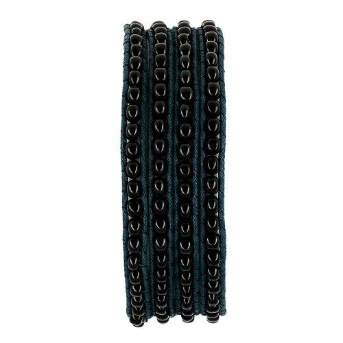 Black and Blue Wrap Around Beaded Bracelet for Women Jewelry Fashion Indian ShalinIndia,http://www.amazon.com/dp/B00AASDD06/ref=cm_sw_r_pi_dp_yZG9rb04ARS97T4P
