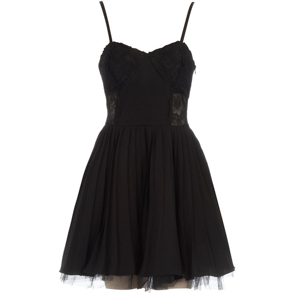 Black lace trim strappy dress and other apparel, accessories and trends. Browse and shop 10 related looks.
