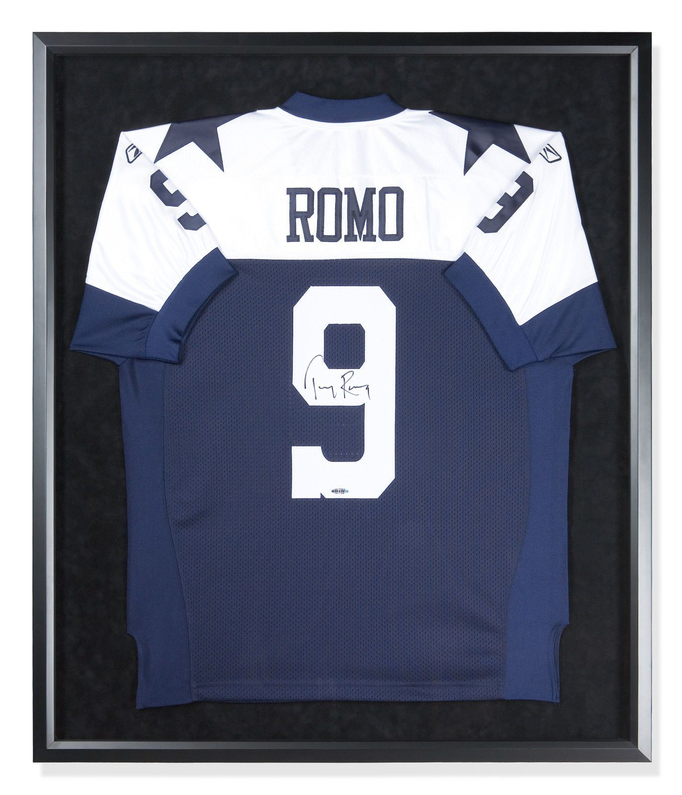 1812e389a Tony Romo Signed Autographed Alternate Dallas Cowboys Jersey Custom FRAMED  UDA