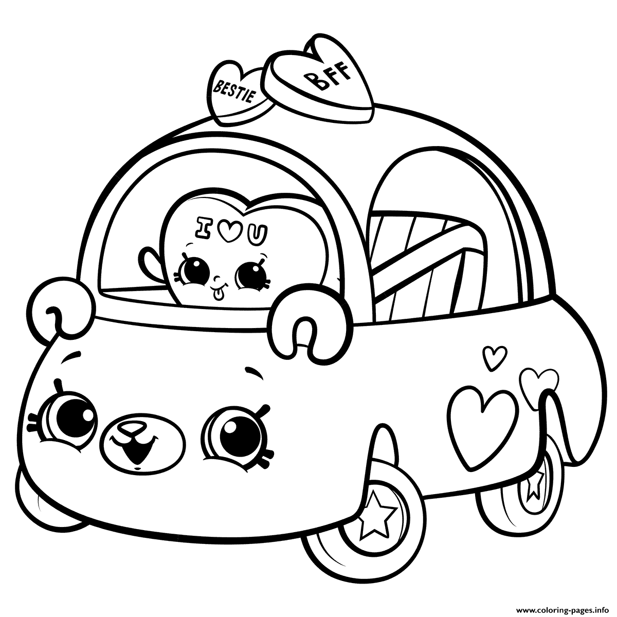 Print Cutie Cars For Girls Coloring Pages Coloring Pages For Girls Cute Coloring Pages Coloring Books