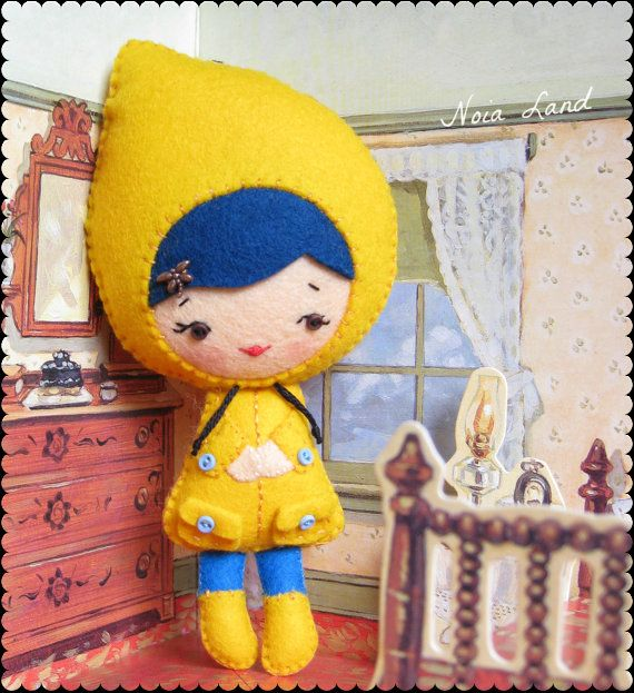 PDF. Halloween Coraline doll .Plush Doll Pattern, Softie Pattern ...