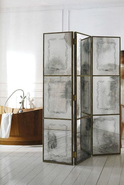Biombo espejo home pinterest biombos muebles y ba os - Biombos casa home ...