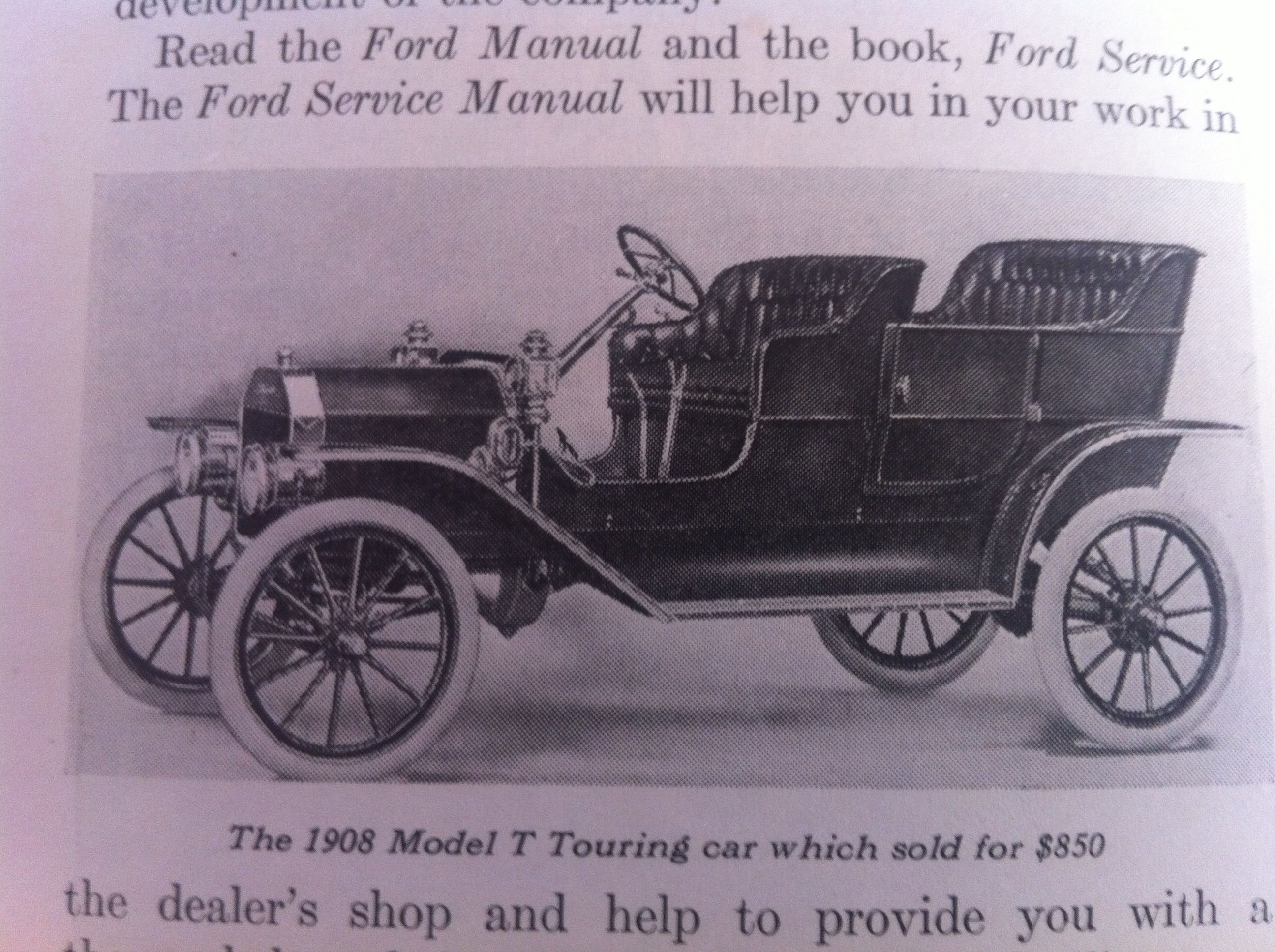 The 1908 Model T Touring Car Which Sold For 850 Ford Sales