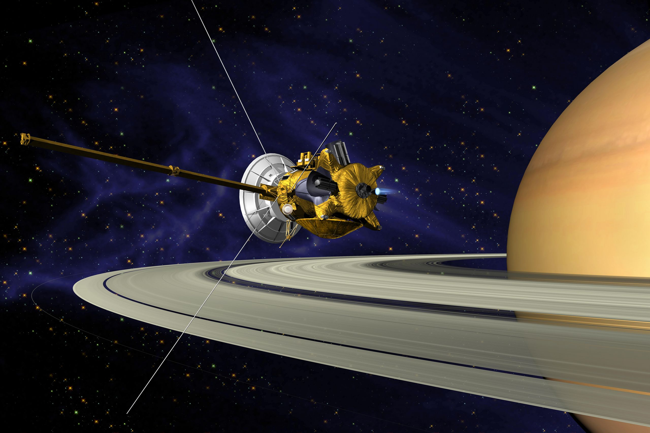 Cassini Orbiter Spacecraft Nasa Solar System Exploration