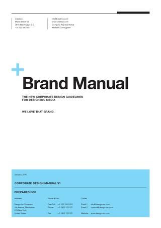 Brand Manual Guidelines Download HttpGooGlXbki Brand