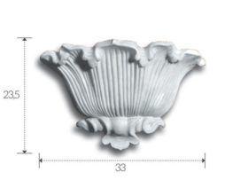 Profilo lineare in gesso da incasso per strip led canalina con