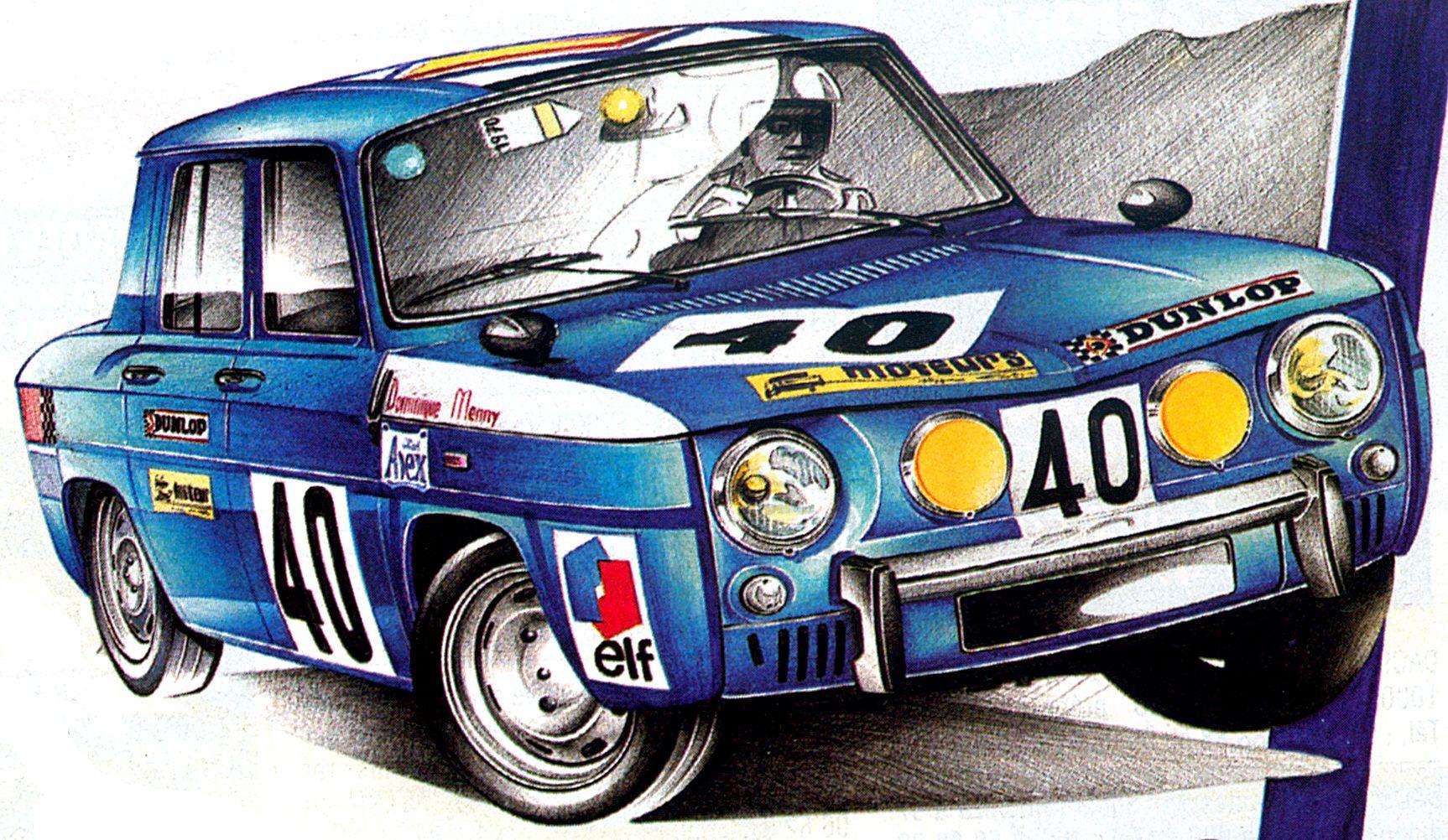 Renault 8 gordini coupe circuit dessin pinterest voiture dessin voiture et voiture de rallye - Dessin renault ...