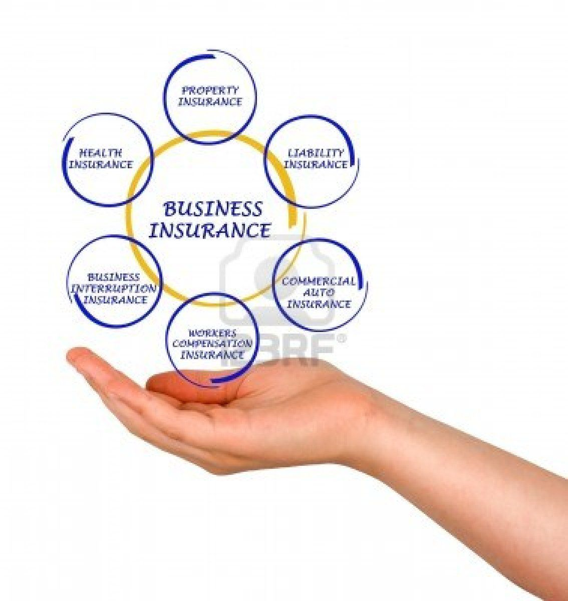Stock Photo Insurance agency, Business, Diagram