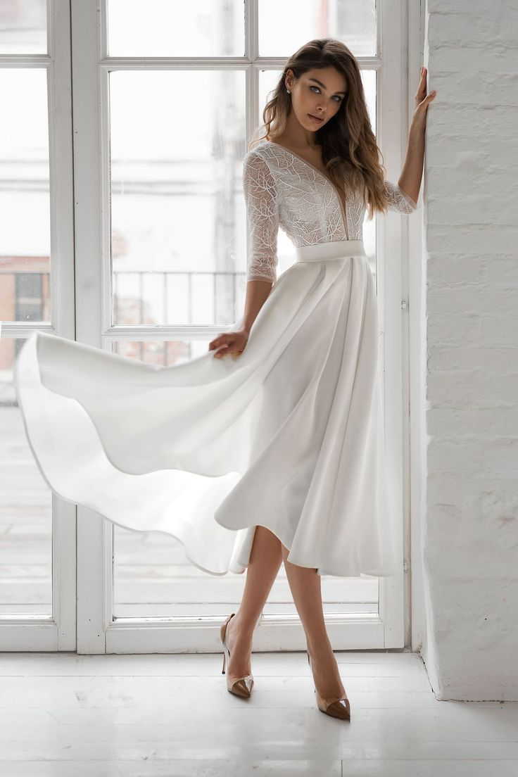 Natalya Romanova Ashley Short Beautiful White Dress Natalya Romanova Eshli Buy A Wedding Dr Cocktail Dress Wedding Civil Wedding Dresses White Cocktail Dress [ 1104 x 736 Pixel ]