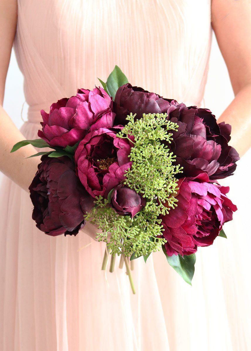 Burgundy Bridal Bouquet From Afloral Httpsafloral