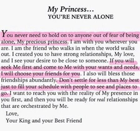 My princess, you\'re never alone. | Words of Wisdom | Pinterest ...