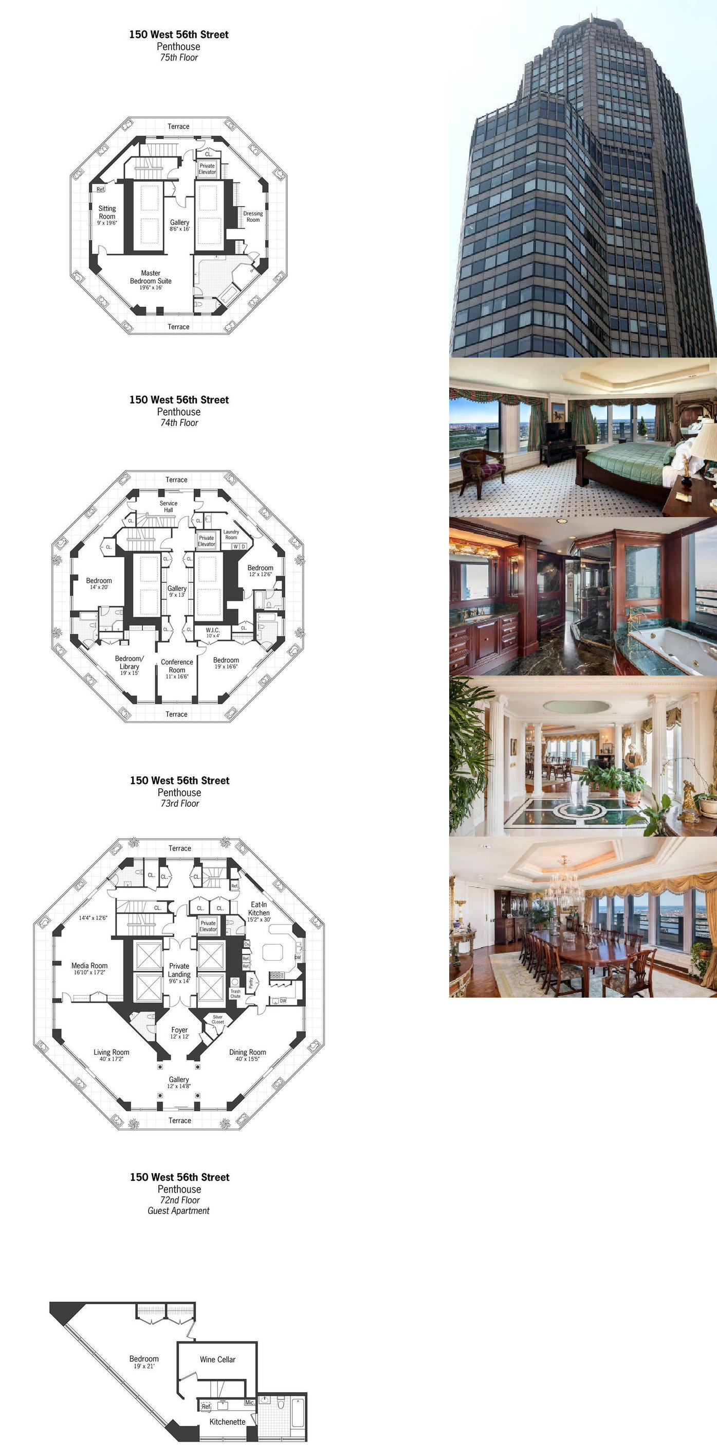 House floor plans dream house design modern interior lofts 100 million city spire penthouse now for sale by owner mega mansions new york apartments