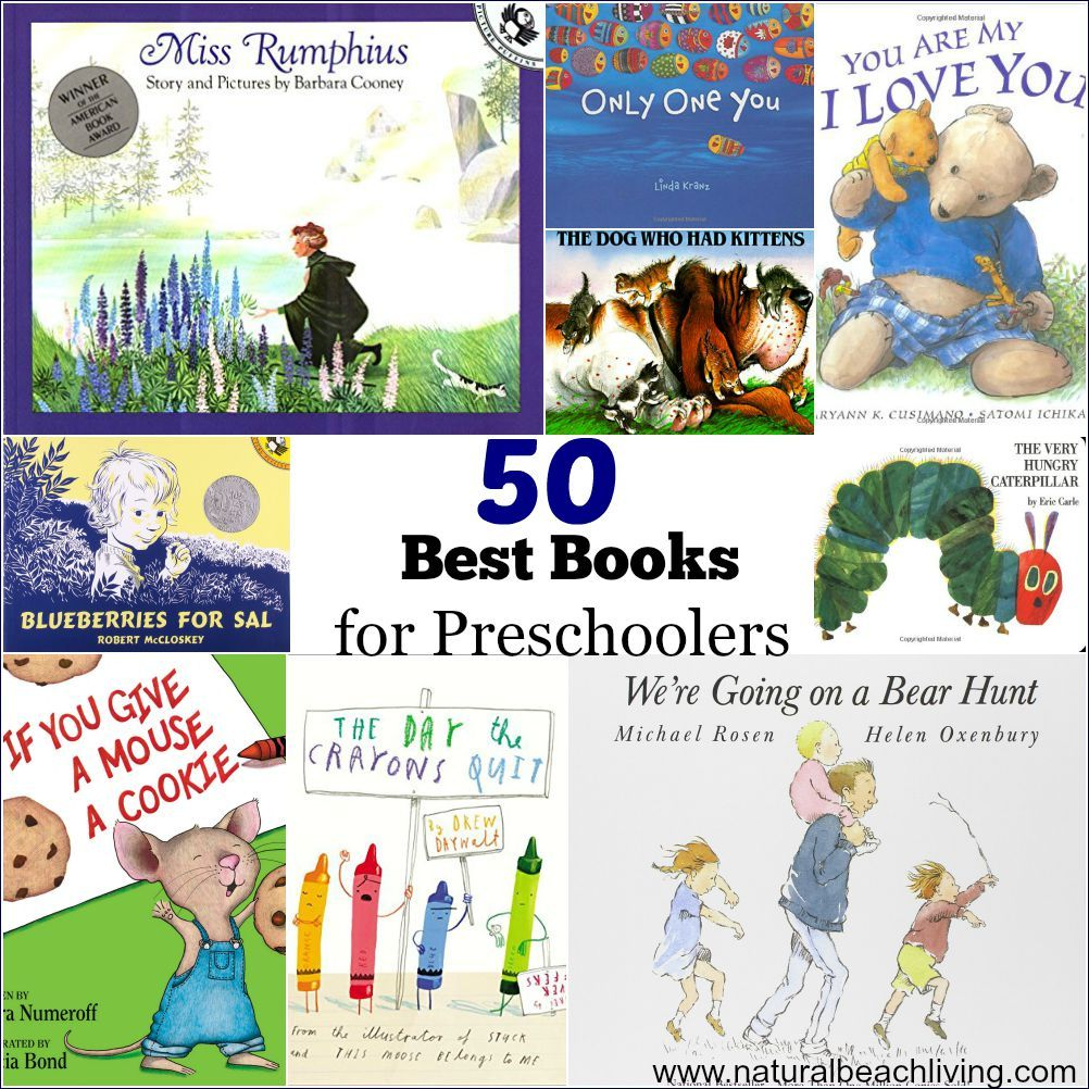 50 Best Books for Preschoolers - Free Printables Reading ...
