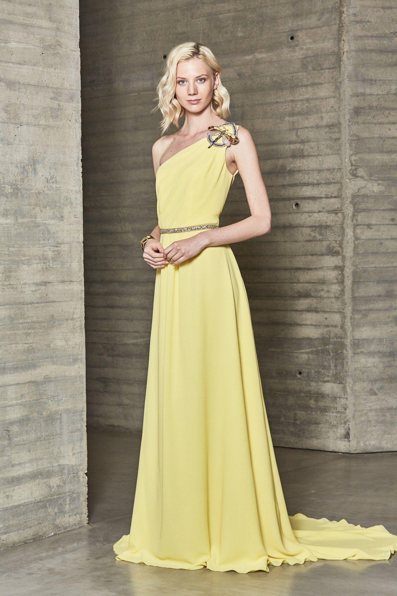 9f66bd393 Modelo 18119A de Ana Torres 2018. Precioso vestido de fiesta largo ...