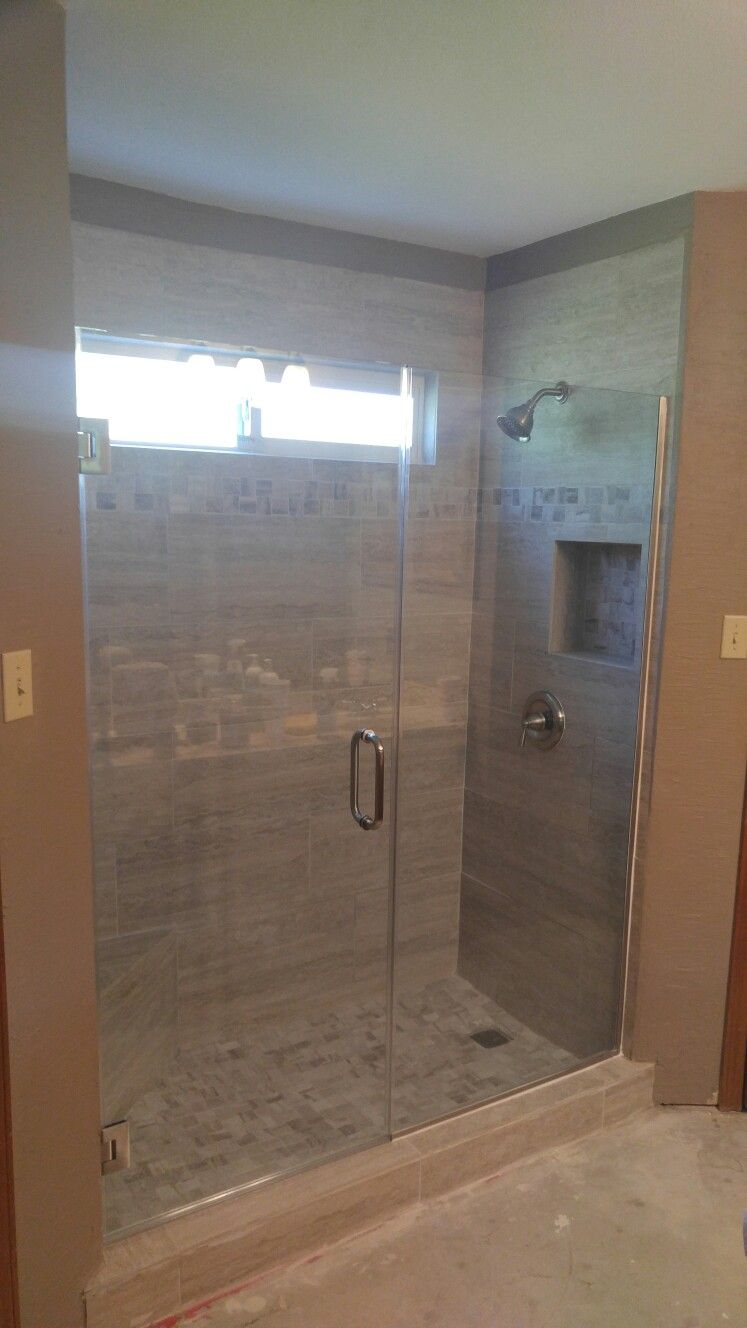 This Was A Tub Shower That We Made Into A Walk In Shower This Is A