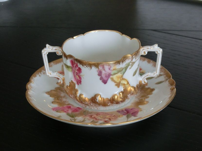T Limoges France 1892 Two Handled Chocolate Cup · Chocolate CupsVintage Tea  ...
