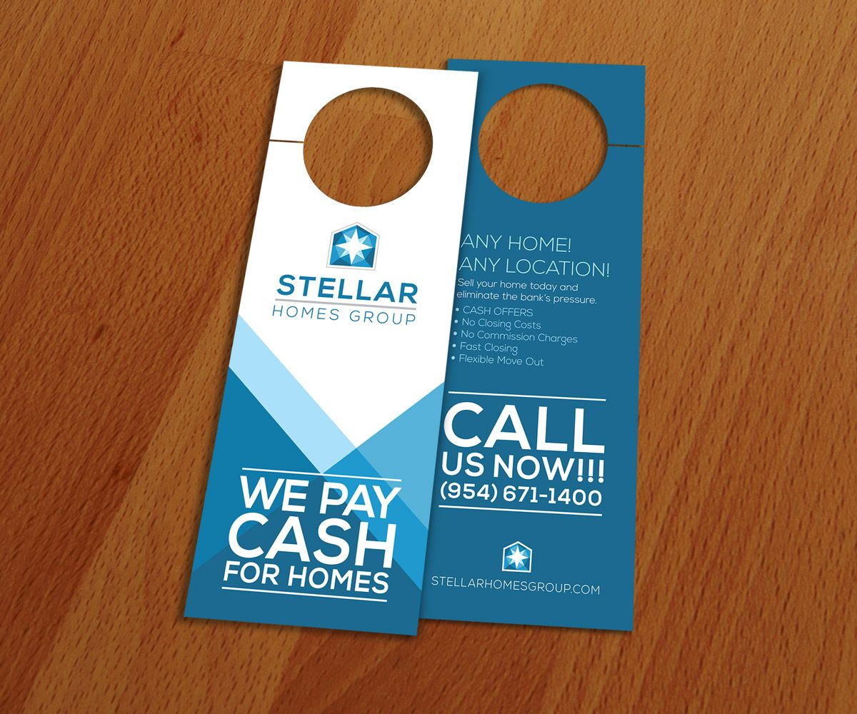 door hanger design real estate. Stellar Homes Group, Door Hanger Design. Marketing Materials Design Real Estate O