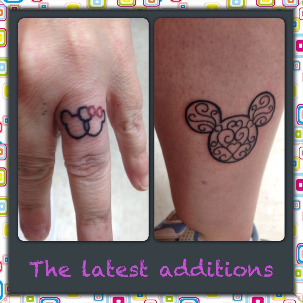 2a931992ffac1 Love the filagree. White ink. BMD) Mickey Mouse tattoos - cute ...