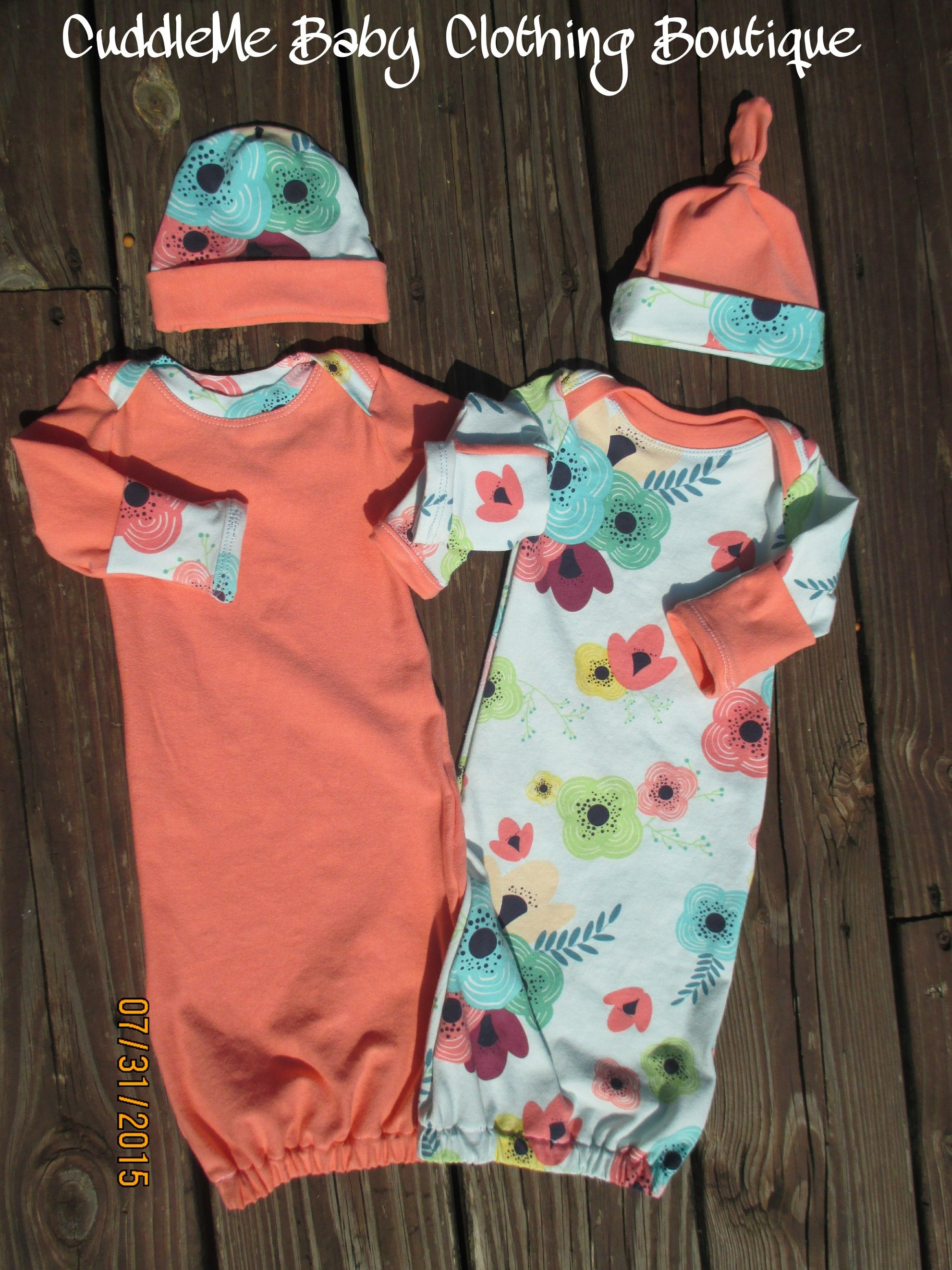 Twin coming home outfits//Twin baby gowns//by cuddlemebabyclothing ...