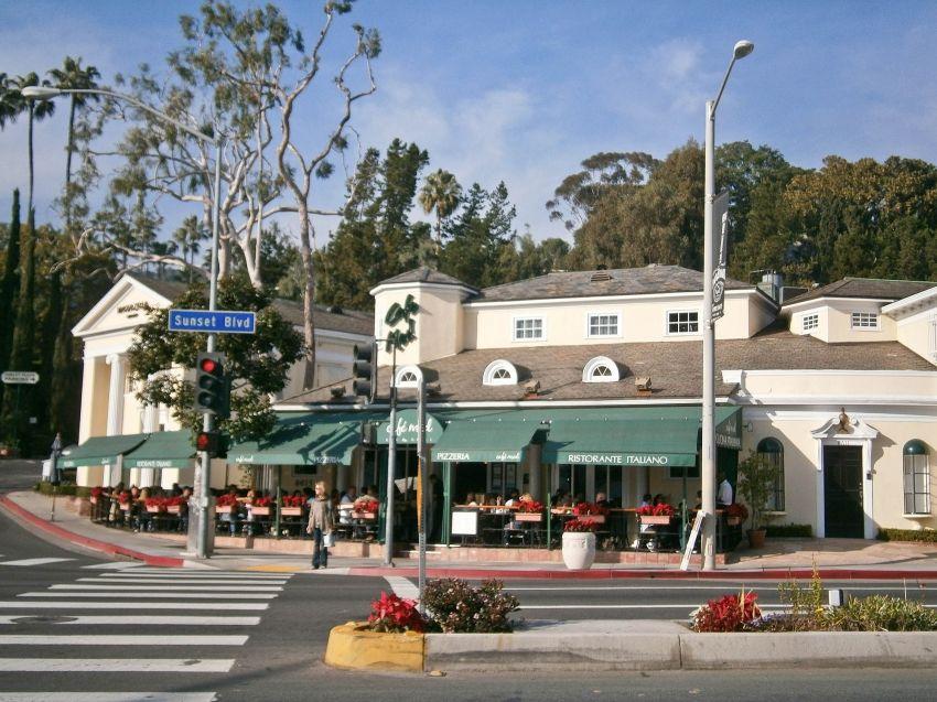 Cafe Med on Sunset Blvd. Cafe med, Hollywood hills