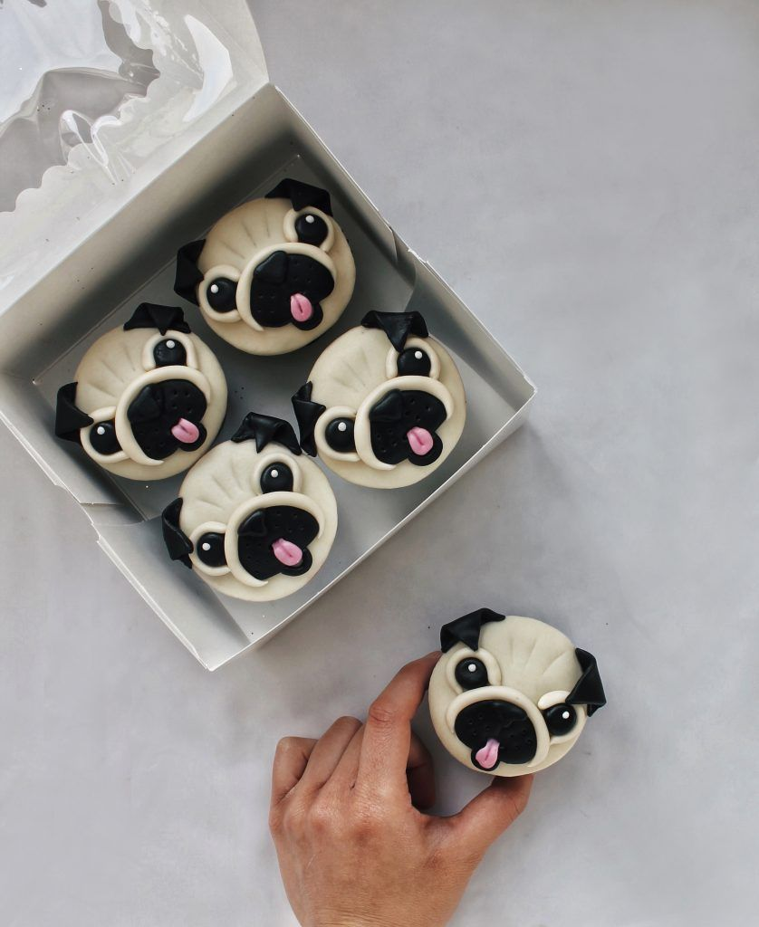 Pug cupcakes recipe from bobus red mill cuppy cupcakes in
