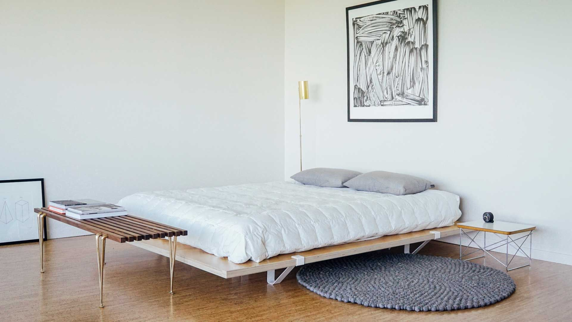 Diy Minimalist Bed Frame Bed Frame Idea For Elijah We Can Probably Diy It For Far Less