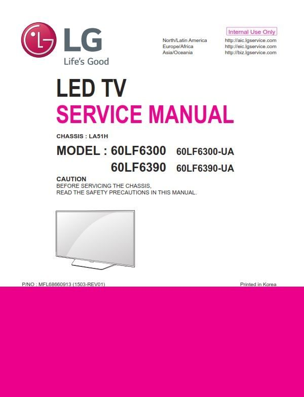 lg 60lf6300 smart led tv service manual repair guide schematics rh pinterest com User Guide Template User Guide Cover