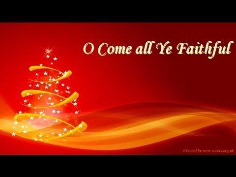 O COME ALL YE FAITHFUL Lyrics | Worship songs, Christmas music, Kids songs