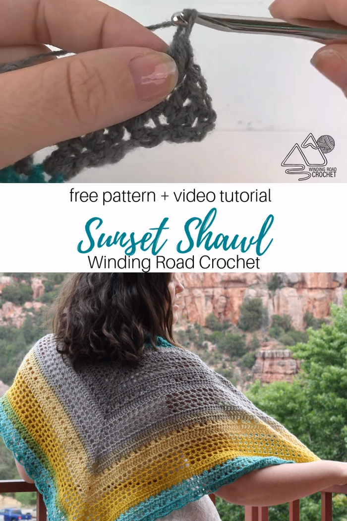 Photo of How to Crochet the Sunset Shawl Free Crochet Pattern with Video Tutorial