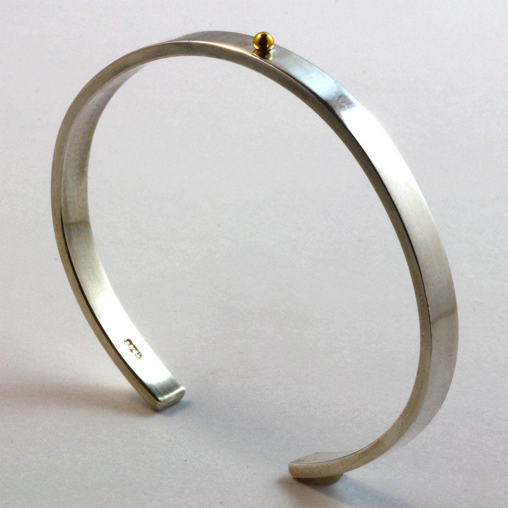 Sterling Silver 22k Gold Cuff Bracelet For Men Or Women Cuffbracelet Bracelet Jewell Silver Bracelets For Women Silver Bracelets Simple Gold Bracelet Cuff