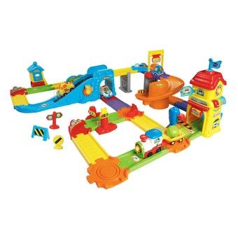 Go Go Smart Wheels Train Station Play Toy Trains Set Wheel Training Toy Train
