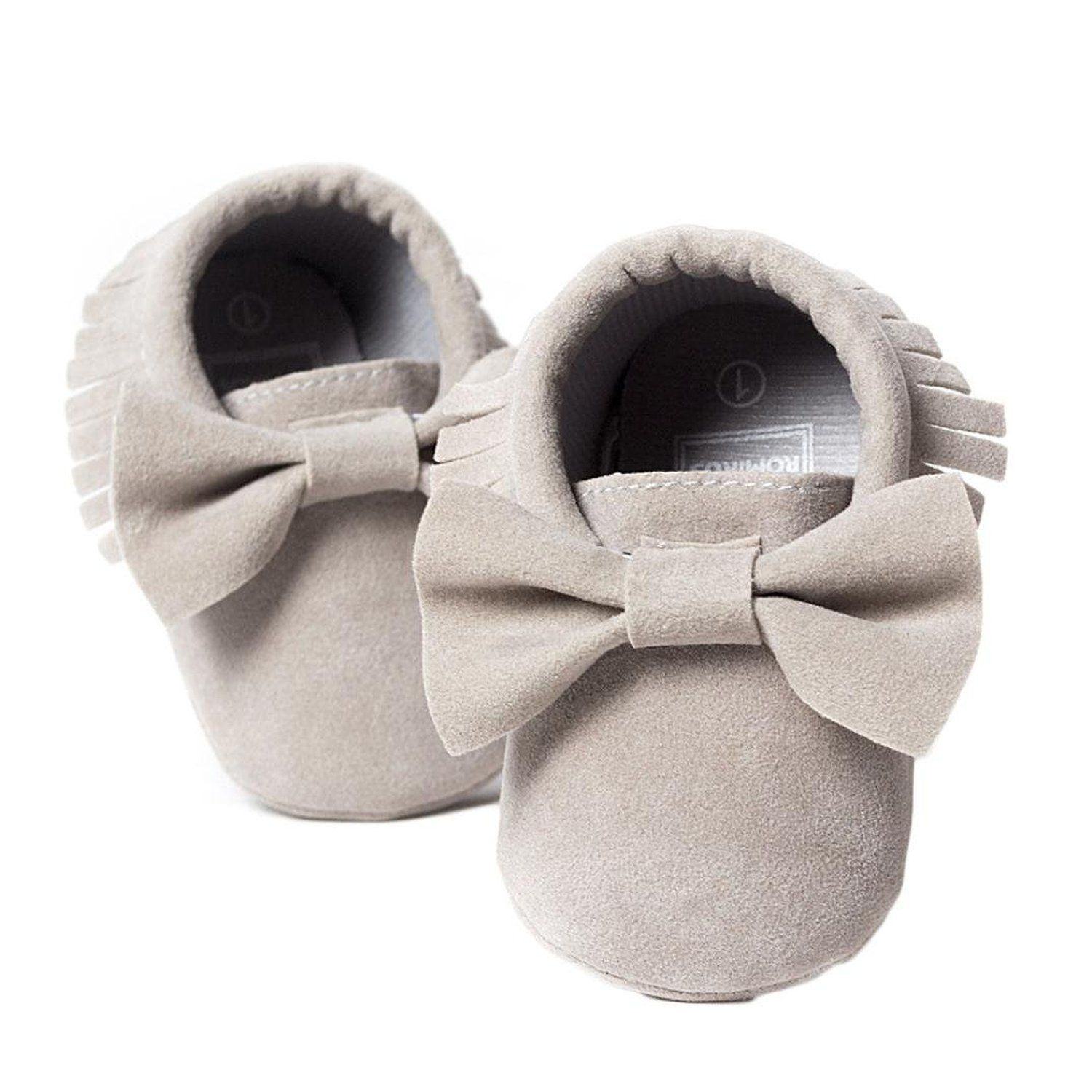 Amazon Voberry Baby Boys Girls Tassel Bow Soft Sole PU Leather