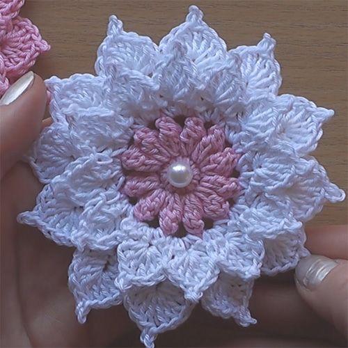 Crochet Flower - Very Easy Tutorial (Crochet For Children) | Häkeln ...