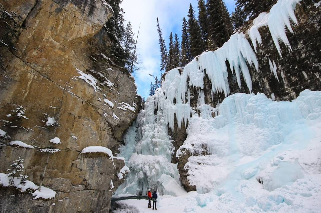 @lonelyplanet 'What I love most about #Canada is that every season brings new adventures and dramatically different landscapes. Johnston Canyon in #Banff National Park is very popular in warm months, when visitors can wander along the wooden catwalks and watch the gushing waterfalls spill into turquoise pools. Come winter, those same falls are frozen over, creating a wonderland of sparkling ice crystals that you can climb up'