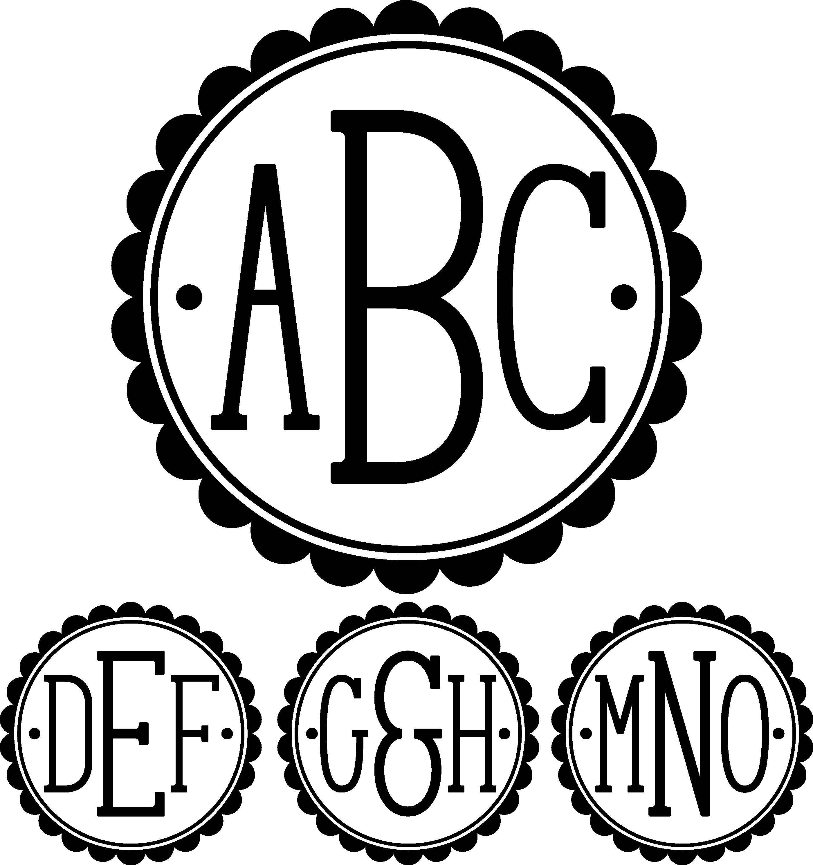 February 2019 Bundle Silhouette design, Monogram fonts