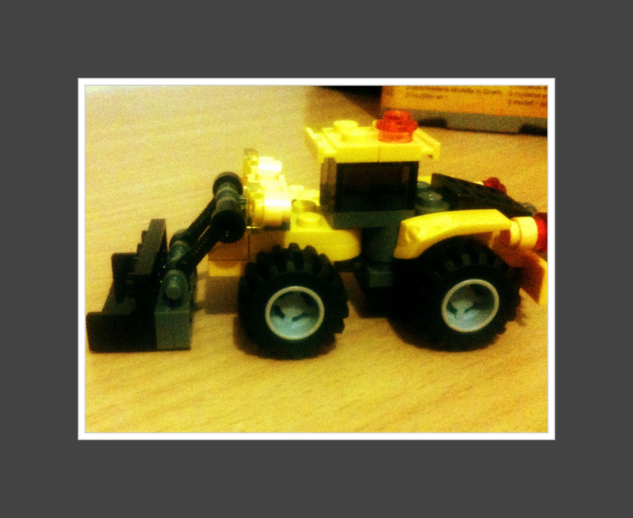 A lego truck it s amazing that you can build 3 three designs of