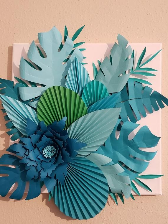 Large tropical paper flowers wall decor tropical paper flowers wall backdrop nursery paper flower wall decor nursery decor nursery wall art #largepaperflowers