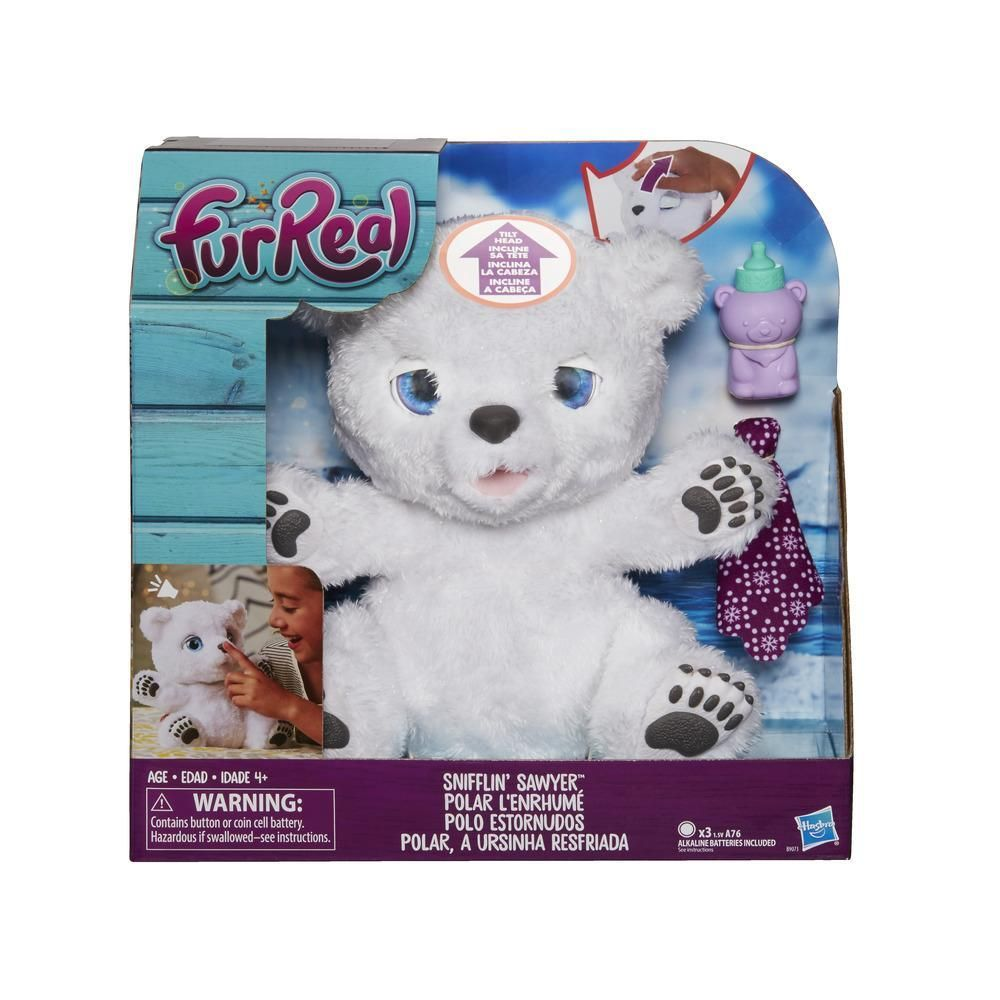 Furreal Snifflin Sawyer Fur Real Friends Baby Polar Bears Toys