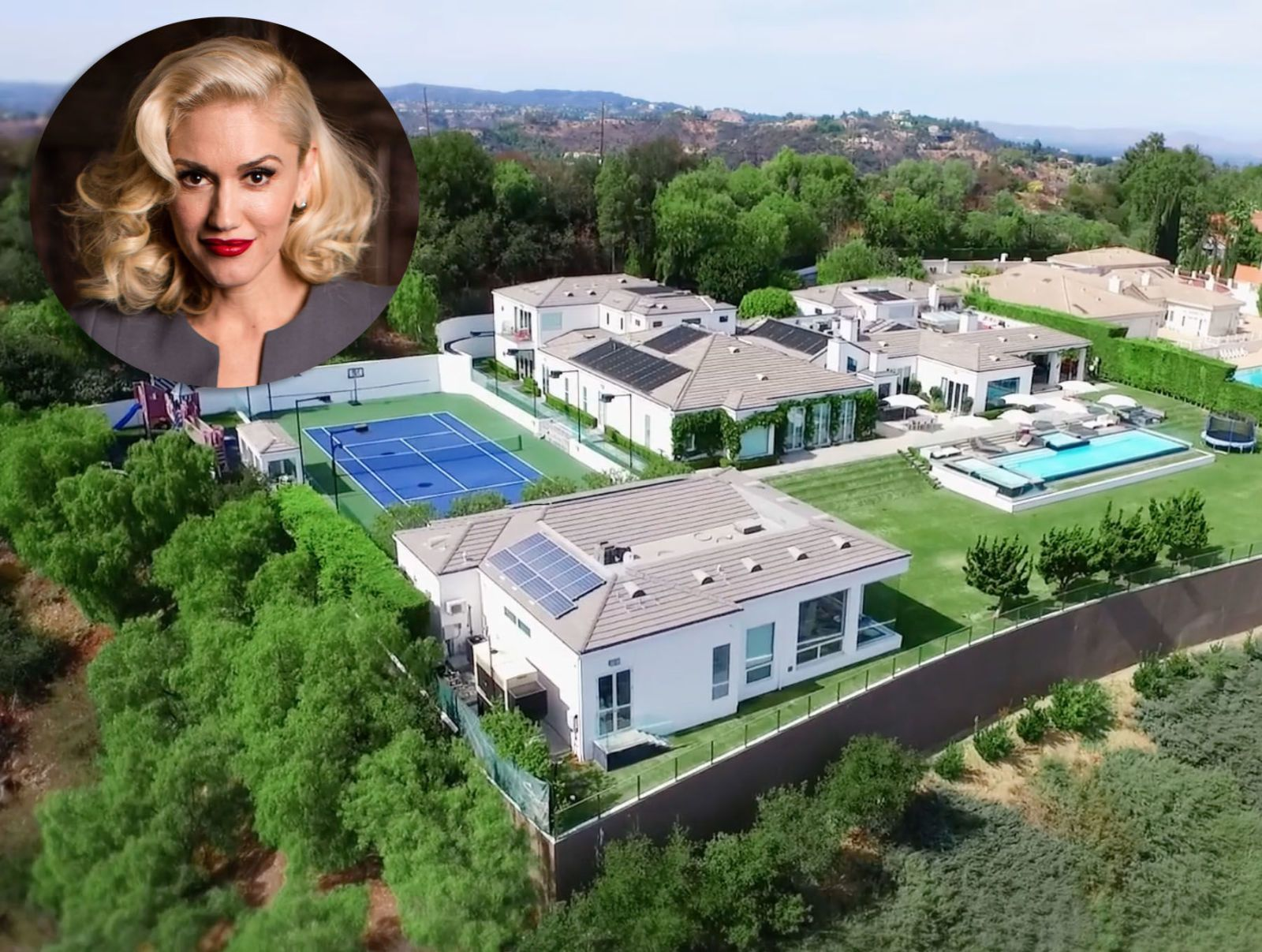 Take a peek inside gwen stefani 39 s glam beverly hills for Famous homes in beverly hills