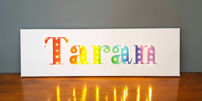 Lighted name sign, Birthday gift for boys, Boys bedroom