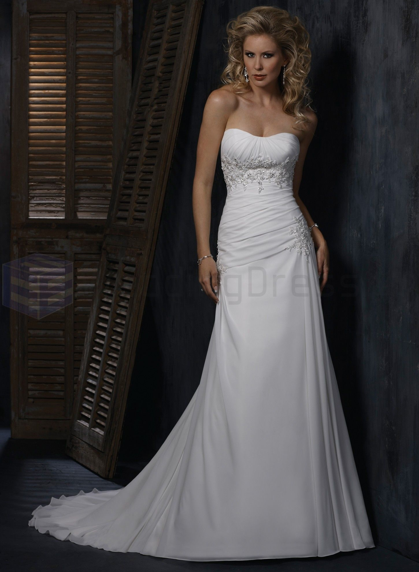 slim a-line wedding dress - Google Search | Dresses | Pinterest ...
