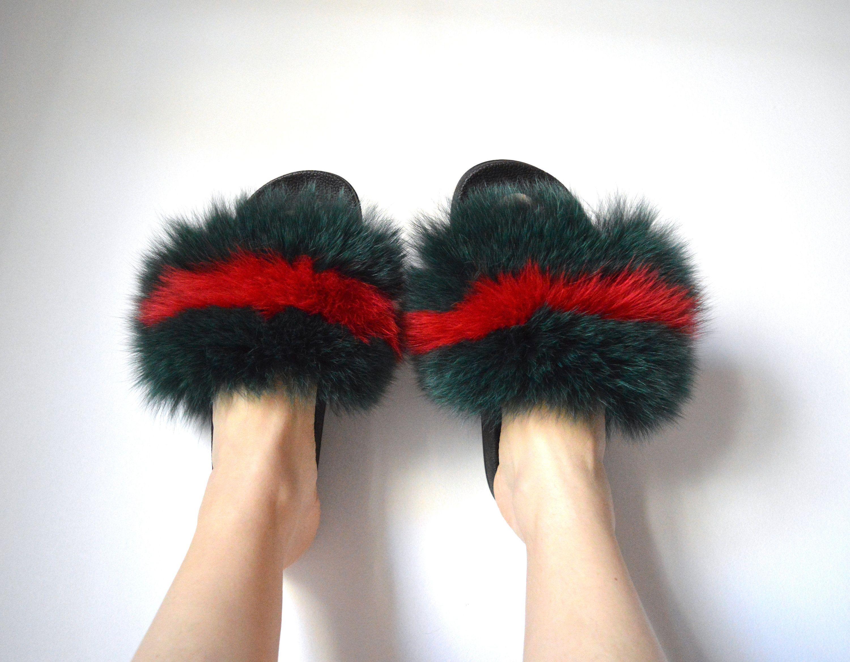 Fur slides, Fur shoes
