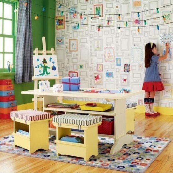 kinderzimmer gestalten kreative wandgestaltung