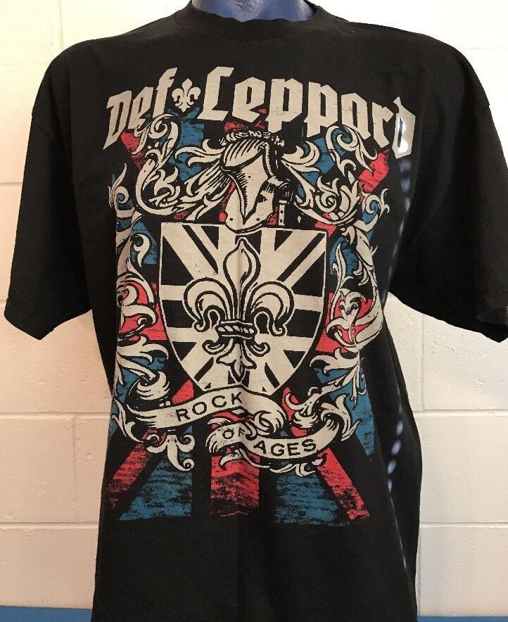 Def Leppard 2011 Rock Of Ages Concert Tour Black T-Shirt 2XL Alstyle  | eBay