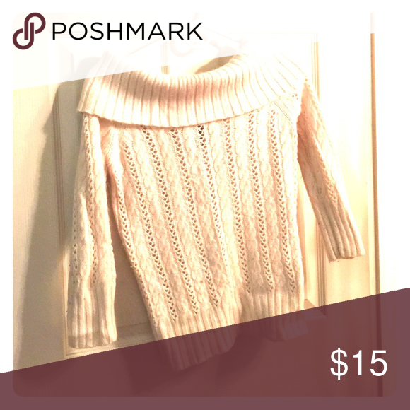Selling this Cream Sweater on Poshmark! My username is: mavsoccer23. #shopmycloset #poshmark #fashion #shopping #style #forsale #Express #Tops