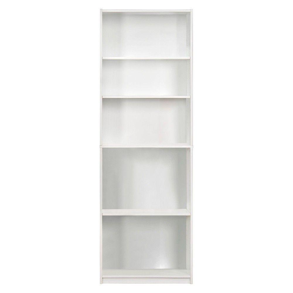 Bookcase White Decorative Bookshelf