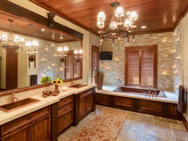 20 Spa Like Bathrooms To Clean Your Mind Body And Spirit Spa Like Bathroom Traditional Bathroom Rustic Master Bathroom