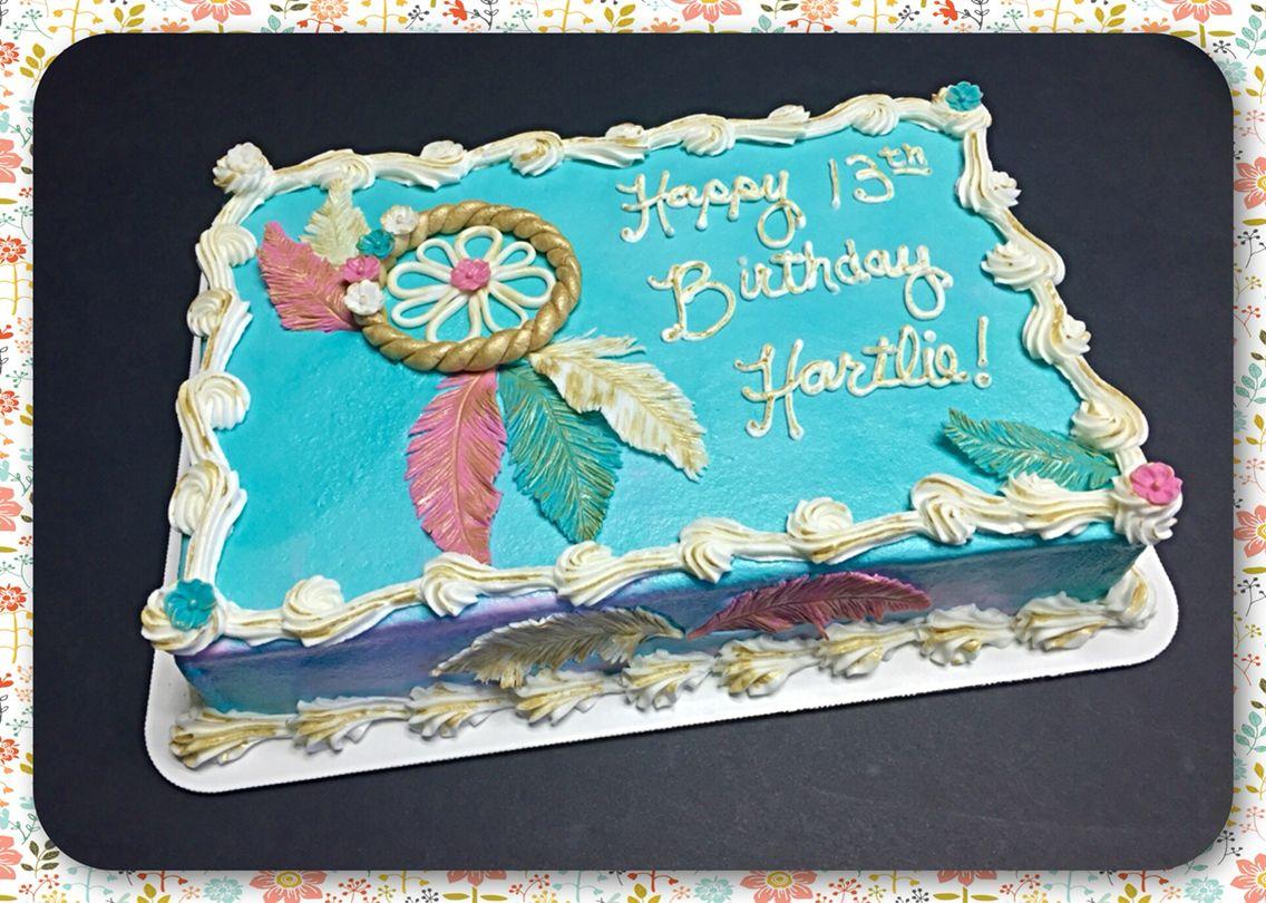 A Boho Chic Sheet Cake Birthday Sheet Cakes New Birthday
